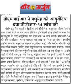 CSIR, scientific validated Ayurvedic anti-diabetic medicine BGR-34 launches in Punjab.
