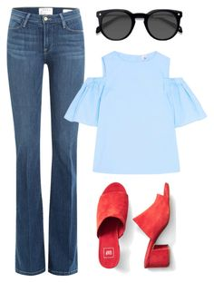 """80"" by ddaisiee on Polyvore featuring Frame, Gap, Iris & Ink and EyeBuyDirect.com"