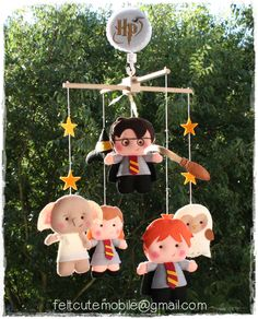 Omg !!!!     Harry Potter Mobile, Baby Crib Mobile, Harry Potter Nursery, Wizard, Baby Furniture, Felt Doll Baby Gifts, Doll Baby Girl, Boy Bedding BB sw by feltcutemobile on Etsy https://www.etsy.com/listing/288118197/harry-potter-mobile-baby-crib-mobile
