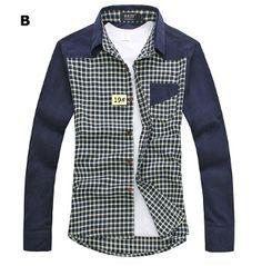 Men's Plaid Shirt with Inner Fur