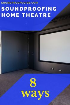 8 Ways to Soundproof a Home Theatre room - Soundproof Guide Home Theatre Sound, Home Theater Rooms, Sounds Great, Bonus Rooms, Sound Proofing, Indoor, Tips, Home Theatre Rooms, Interior