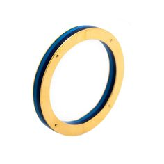 Bracelet. Methacrylate and metal gold plated.