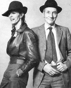 David Bowie & William S. Burroughs Photographed by Terry O'Neill, 1973