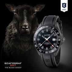 """Scafograf GMT """"The Black Sheep"""" by Eberhard  & Co. #limitededition #scafografgmttheblacksheep #eberhard_co #eberhardwatches #eberhard #differentbynature"""