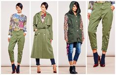 WINTER THINK CHIC COLLECTION  #military #fashion #coat #parka #green #pants #streetstyle #easy #chic #elegant #madeinitaly