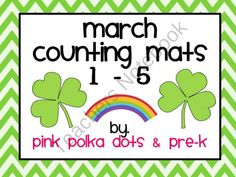 FREEBIE ~ March Counting Mats