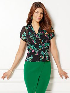 Shop Eva Mendes Collection - Charlotte Blouse - Black . Find your perfect size…
