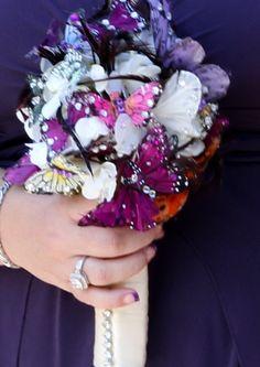 Butterfly wedding bouquet.