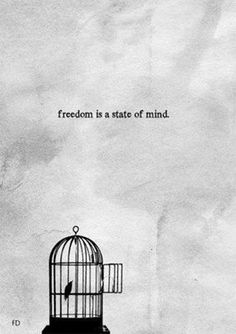 """I want to get this tattooed. The cage on my ankle with or without the bird in it and then going on the side of my foot, the saying """"freedom is a state of mind"""" and maybe have a bird by that."""