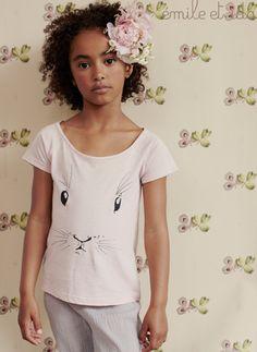 Emile et Ida Bunny Face Tee Shirt at Hello Alyss