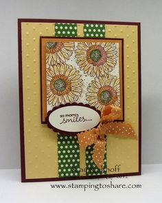Reason to Smile ~ Petite Pairs ~ SU! ~ Kay Kalthoff-one of the loveliest I've seen w this stamp set