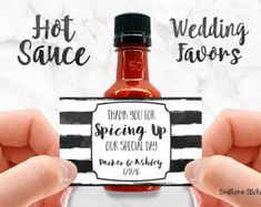 Custom Hot Sauce Favors Personalized Labels & by SouthernSticker