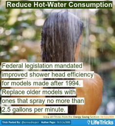 Energy Saving - Reduce Hot-Water Consumption