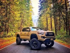 2016 Toyota Tacoma equipped with a Fabtech System Toyota Autos, Toyota Trucks, Toyota Cars, Toyota Hilux, 4x4 Trucks, Tacoma Toyota, Truck Mods, Toyota 4x4, Custom Trucks