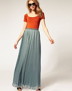 c842eb7997 pleated Chiffon Maxi, Pleated Maxi, Fringe Dress, Flowy Skirt, High Waisted  Skirt