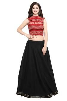 Cotton Lehenga - Pure cotton lehengas soft, synthetic and all types of designer cotton lehengas online. Ghagra Choli, Lehenga Choli Online, Cotton Lehenga, Two Piece Skirt Set, Elegant, Skirts, Stuff To Buy, Color, Collection