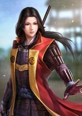 f Fighter Hvy Armor Cloak Lance Asian Faction lg Female Samurai, The Last Samurai, Female Assassin, Female Armor, Warrior Girl, Fantasy Warrior, Amaterasu, Character Portraits, Character Art