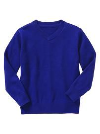 Uniform V-neck sweater