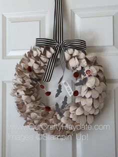 Halloween version of the wreath kit!  WAY TOO FUN!!  I smiled the whole time made this!
