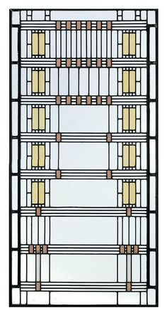 The stained glass windows of Frank Lloyd Wright. Images via Christies & Chicago Art Institute.