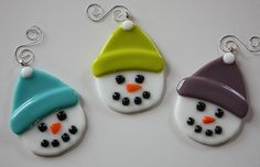 Personalized Fused Glass Christmas Ornaments by OnlineGlass, $15.00