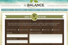 rxbalance website contact form inspiring designs