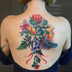 Colorful Tattoos Use Vibrant Pops of Color to Merge the Excitement of Nature and Art