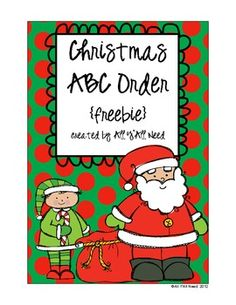 Christmas ABC Order {freebie}