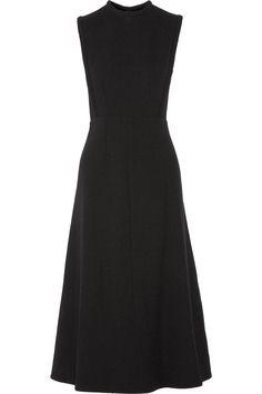 EMILIA WICKSTEAD Nursery wool-crepe midi dress. #emiliawickstead #cloth #