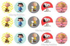 FREE Peanuts Bottlecap images / Peanuts Movie bottlecap images/ Charlie Brown