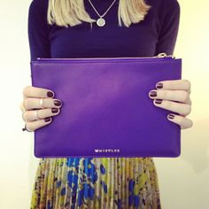 Our fabulous purple leather pouch