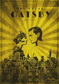 The Great Gatsby (2013) ~ Alternative Movie Poster by Daniel Gaze #amusementphile