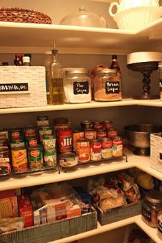 Pantry storage ideas.  I want one just as neat and tidy