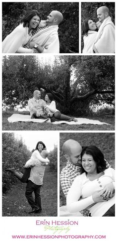 Apple orchard engagement session http://erinhession.com/2014/11/04/theresa-brian-engaged/