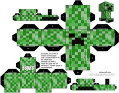 how to make a paper creeper | Here's what the flat print outs look like: