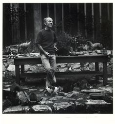 1945. Imogen Cunningham, Edward Weston with Cats, gelatin silver print, George Eastman House Collection.