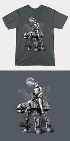 30a32e97563 Stormtrooper Riding AT-AT Walker T Shirt
