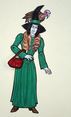 Boggart Snape Articulated Paper Doll by ArdentlyCrafted on Etsy