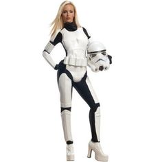 Licensed Sexy Stormtrooper Star Wars The Empire Adult Halloween Costume Womens, Size: Large, Multicolor