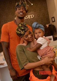 Teyana Taylor her fiance and their daughter step out in headwraps (Photos)