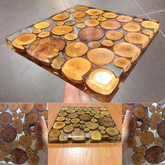 Resina epoxi cristalina con tipo de madera con resina y madera. - epoxydharz tisch - Resina epoxi cristalina con tipo de madera con resina y madera. Epoxy Resin Table, Clear Epoxy Resin, Diy Epoxy, Wood Resin, Acrylic Resin, Diy Resin Crafts, Wood Crafts, Stick Crafts, How To Make Resin