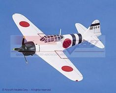 maquette d'avion Mitsubishi A6M5 Zero Zeke White Aircraft Models Quirao idées cadeaux