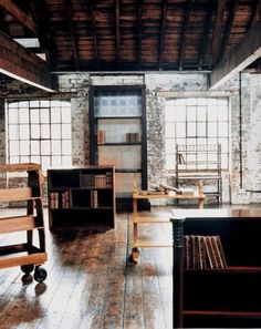 love the ceiling and exposed brick