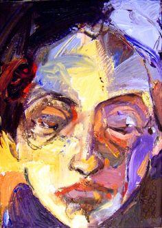 "Saatchi Art Artist: Fotini Hamidieli; Acrylic 2013 Painting ""a face"""
