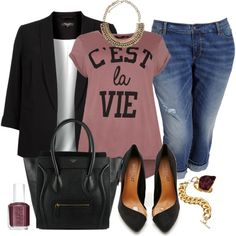 "#plus #size Dressed Up T - Plus Size"" by alexawebb on Polyvore"