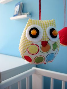 We read that crib bumpers are dangerous and I was mad that we spent the money on one.  I think I might see if my wife wants to cut it up and use the fabric to make the owls!