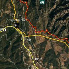 Mapa de localització de l'itinerari del Camí dels Degotalls. Patronat de la Muntanya de Montserrat. Generalitat de Catalunya