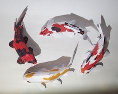 Ebook Papercraft Kit Koi Hi Utsuri carp pdf by PaperwolfsShop