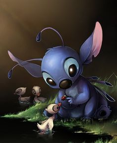 Stitch & the Ducklings
