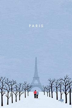Paris Travel Poster by Katinka Reinke